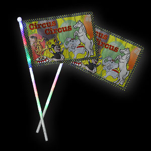 042-642 LED Fahne Circus Tiere